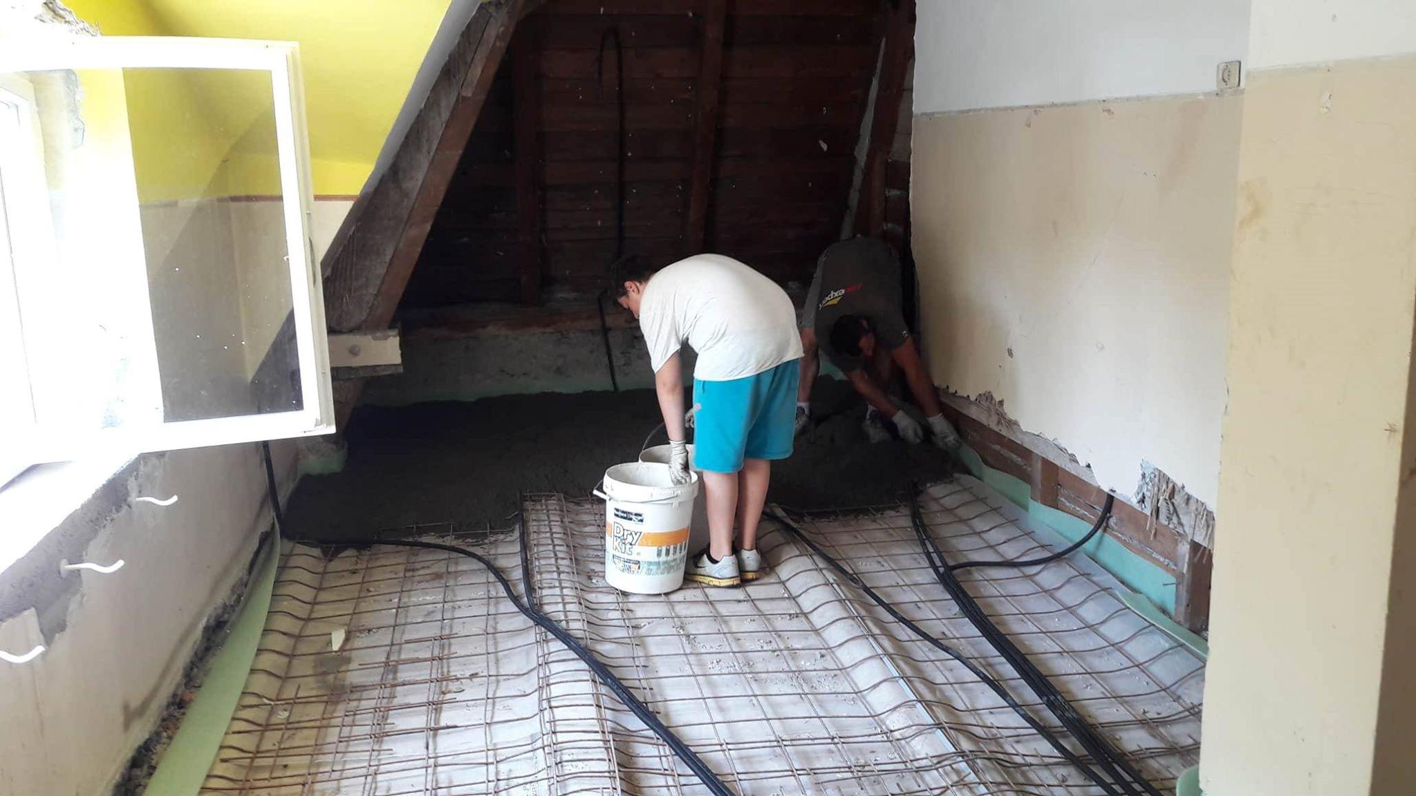Cemento per i pavimenti del secondo piano » Jugendzentrum Jungle Meran