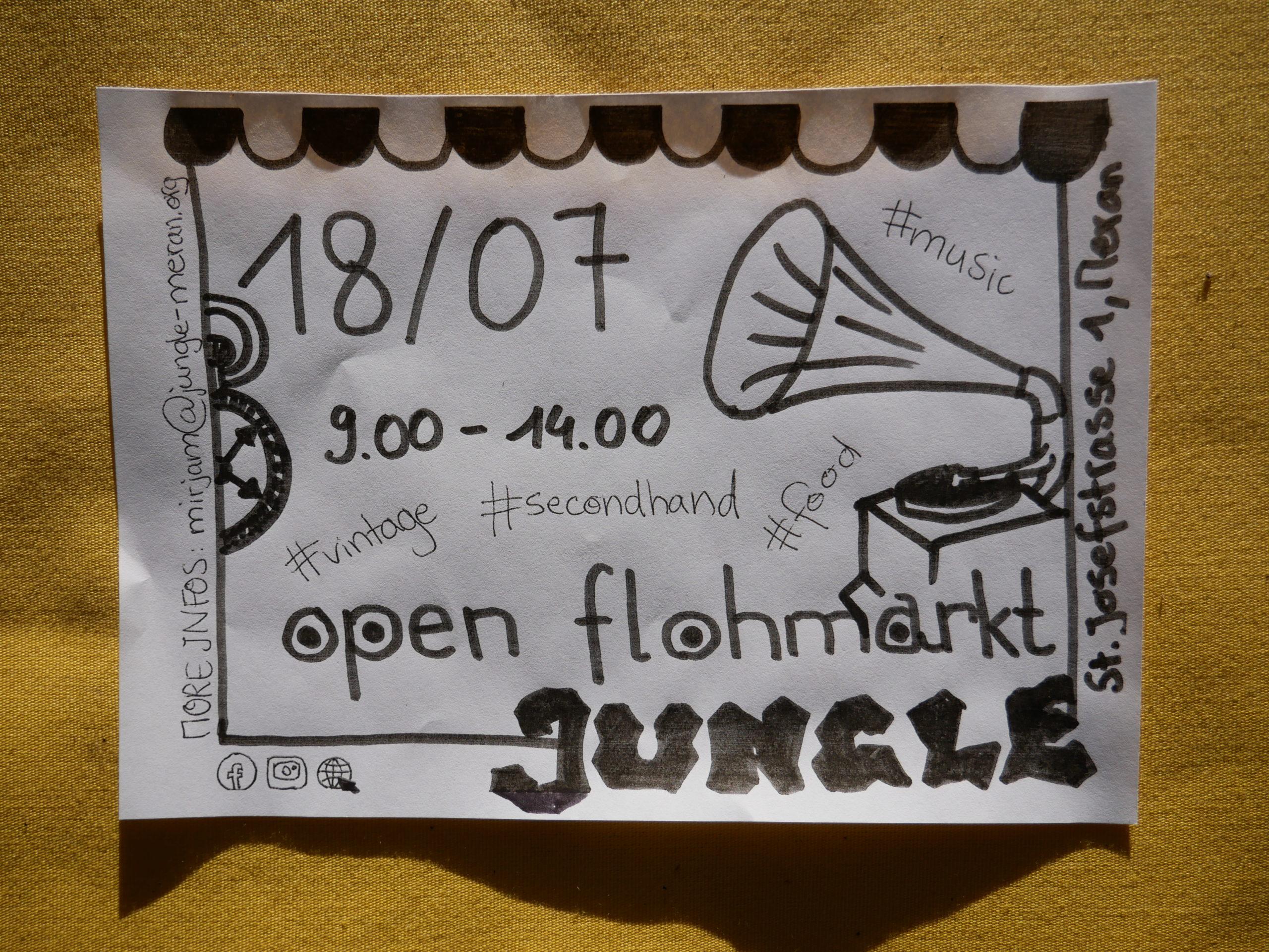 Open Flohmarkt Jungle - Jugendzentrum Jungle Meran - Centro giovani Jungle